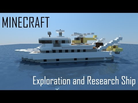 Minecraft Exploration and Research Ship (full interior) + Download
