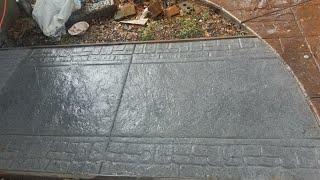 Como hacer una banqueta de cemento.estampeado paso por paso