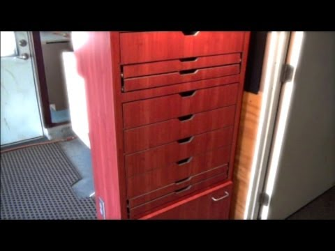 Home Built 12 Drawer Tool Box Lights  Electric Outlets Tour walk through TALL BOY  YouTube