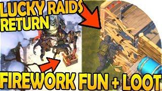 LUCKY RAIDS *FINALLY* RETURN! - FIREWORK FUN + LOOT - Last Day On Earth Survival 1.7.7 Update