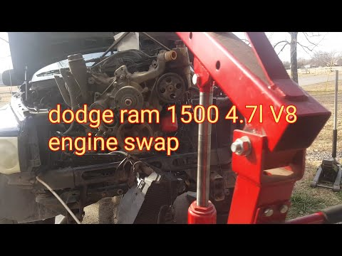 How to remove/replace a dodge ram 1500 4.7l engine