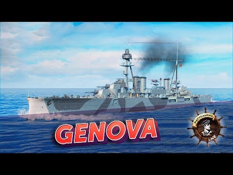 World Of Warships ✽ Крейсер Genova. Обкатываем новинку! ✽ Navygaming