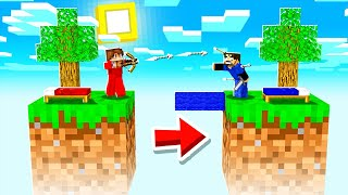 Minecraft Bedwars, but you only get ONE BLOCK!