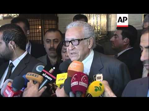 Brahimi gives statement after meeting Syria's internal opposition, comments