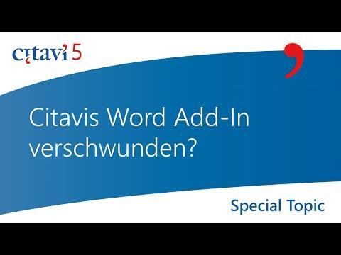 Word Add-In: Verschwundenes Word Add-In wieder aktivieren