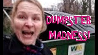 DUMPSTER DIVING FETISH DRIVES OLD LADY INSANE!  NOW WHAT'S AMERICA THROWING AWAY?!? thumbnail