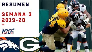 AARON RODGERS VA PARA MVP Y LOS PACKERS PARA CAMPEONES | HIGHLIGHTS BRONCOS VS PACKERS