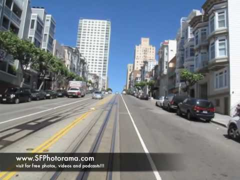 San Francisco Cable Car Ride, California and Van Ness