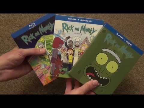 Rick and Morty Seasons 1-3 Blu-Ray Unboxing Adult Swim Cartoon Network