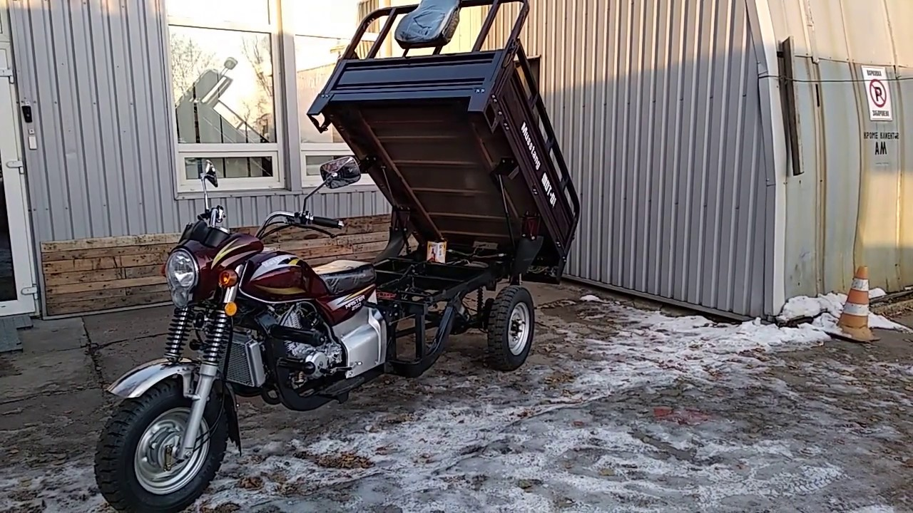 """Грузовой Мотоцикл Musstang MT250ZH-4V, г/п 800 кг как ТРИ """"Муравья""""   заработок автоматической программой"""