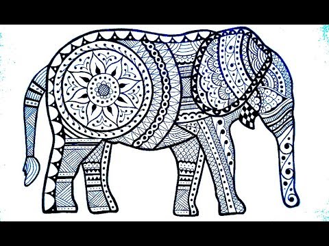 Classic Elephant Mehndi Henna Design For Full Hands