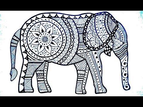 Classic Elephant Mehndi Henna Design For Full Hands