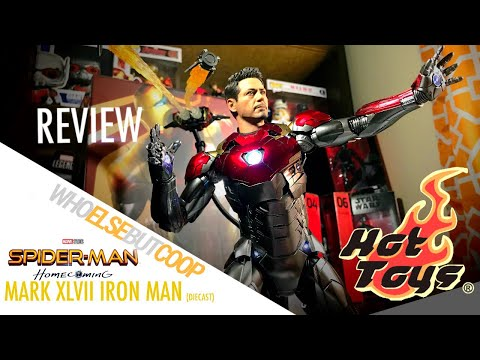 HOT TOYS SPIDER-MAN HOMECOMING 1/6th Scale Diecast Mark 47 XLVII IRON MAN Review! - WhoelsebutCoop
