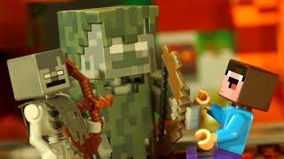 БОМЖИК 🧟♂️ ДРОВОСЕК - Лего НУБик Майнкрафт Мультфильмы для Детей - LEGO Minecraft Мультики