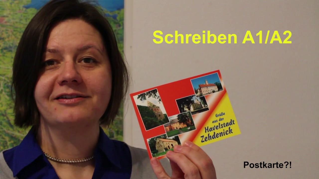 Die Postkarte Das Informelle Schreiben Auf Niveaustufe A1a2 Youtube