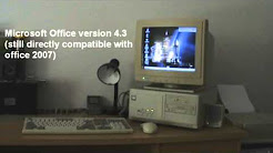 Sounds of the 90's - old computer and printer starting up