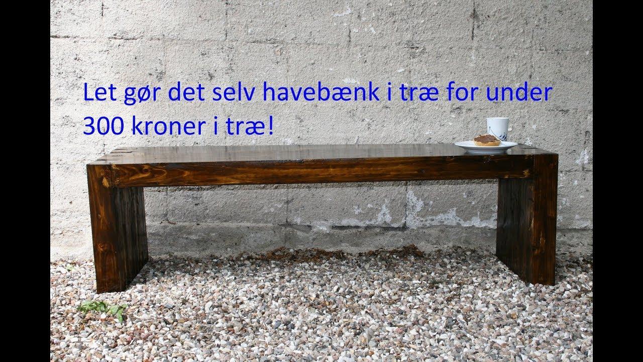 Ekstra Enkel havebænk i reglar. - YouTube VP97