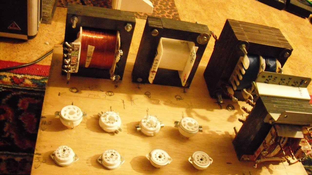 Homemade EL34/6ca7 Push Pull Tube amplifier with DIY Ultra linear Hi-Fi  Output transformers