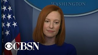 New White House press secretary Jen Psaki gives first press briefing