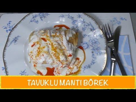 Tavuklu Mantı Börek Tarifi /Tavuklu Yufka Mantısı Nasıl Yapılır