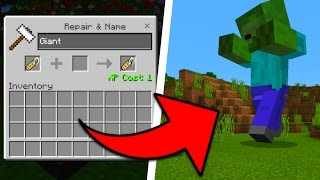 How To Spawn Hidden Giant Mobs in Minecraft Pocket Edition (Nametag Boss Addon)