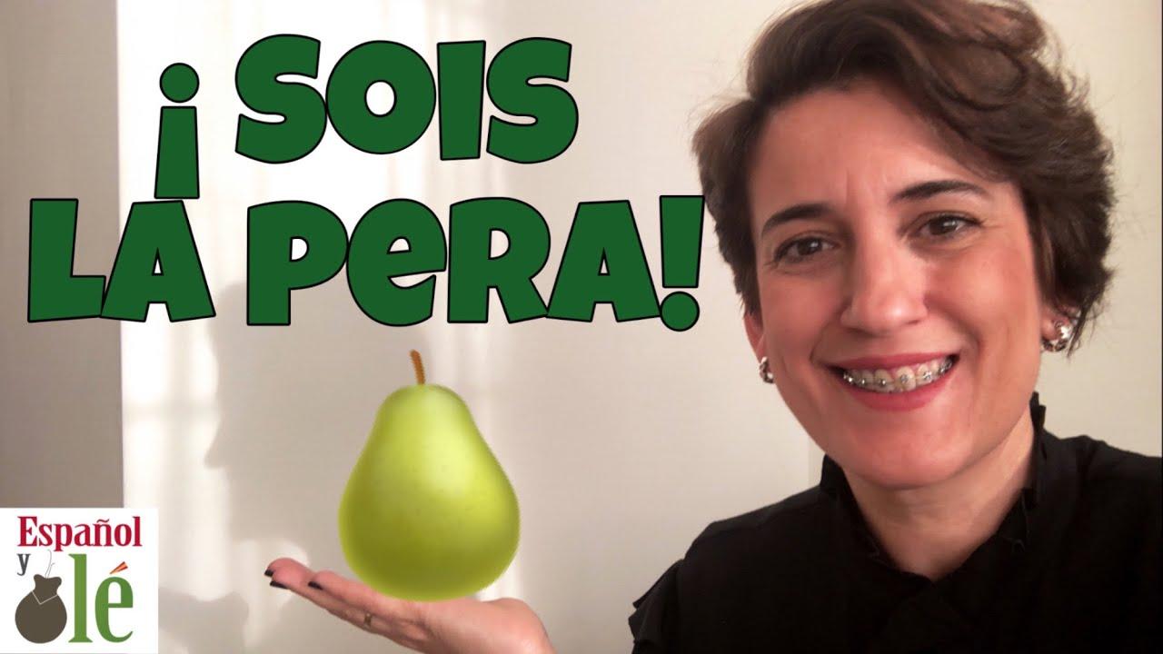 🥥APRENDER ESPAÑOL FRASES: Frutas. Expresiones en Español con Fruta. Expresiones en español de España