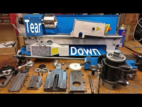 Tear Down and Wiring Upgrade + Complete disassembly, cleaning, and reassembly of mini lathe