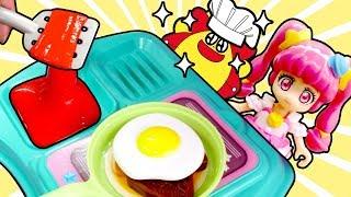スター☆トゥインクルプリキュアとスライム料理ごっこ♪♪ 粘土やぷよぷよボールでおままごと! キャリーキッチン ごっこ遊び★サンサンキッズTV★