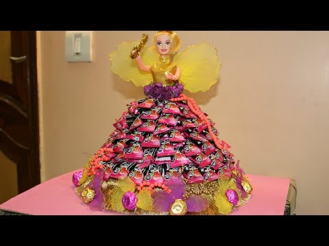 Diy Chocolate Candy Doll. Rakhi Gift Idea for kids / girls / Her Chocolate Bouquet