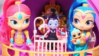 Pretend Play for Kids | Vampirina Babysits Lil Genie ! Toys and Dolls Fun with Shimmer & Shine