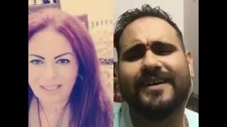 تحدي بنت من لبنان مع محمد اكرم اغنيه مالي خلق كاظم الساهر