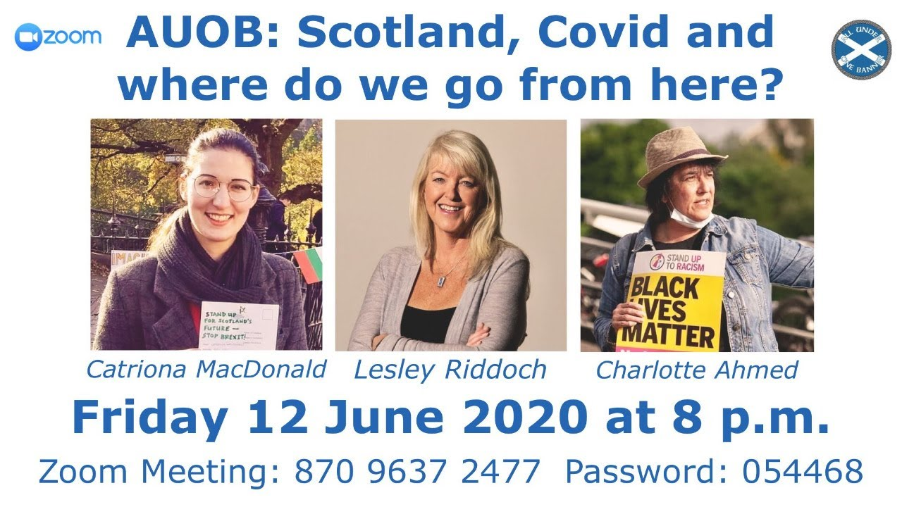AUOB panel discussion: Scotland, Covid and where do we go from here. @AUOBA