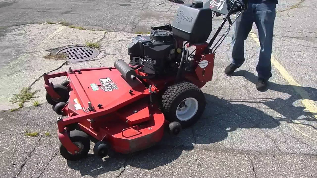 Exmark Turf Tracer Walk Behind Lawn Mower Youtube