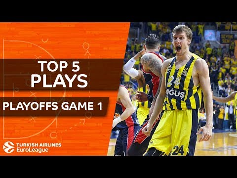 Top 5 Plays   Turkish Airlines EuroLeague Playoffs Game 1