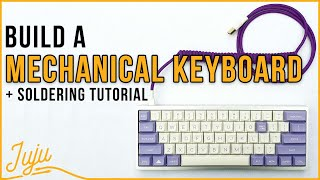 How To Build Your Own Mechanical Keyboard! (With an EASY Soldering Tutorial!) ⌨
