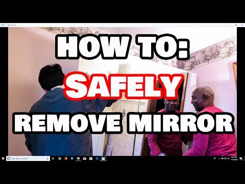 How To SAFELY Remove A Glued On Mirror From ANY Wall Without Breaking!