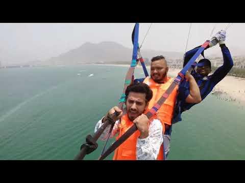 Parasailing in Khorfakkan beach U.A.E. Eid ul fitr. 2016.