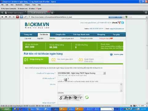 Hướng dẫn rút tiền từ Bảo Kim về thẻ ATM.Baokim.vn.flv