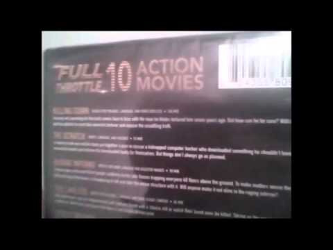 The unboxing vault: Unboxing the full throttle 10 action movie pack DVD