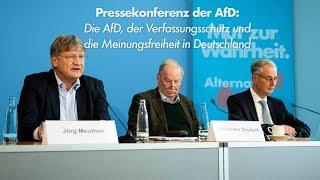 PK: ❝AfD, Verfassungsschutz und Meinungsfreiheit in 🇩🇪❞