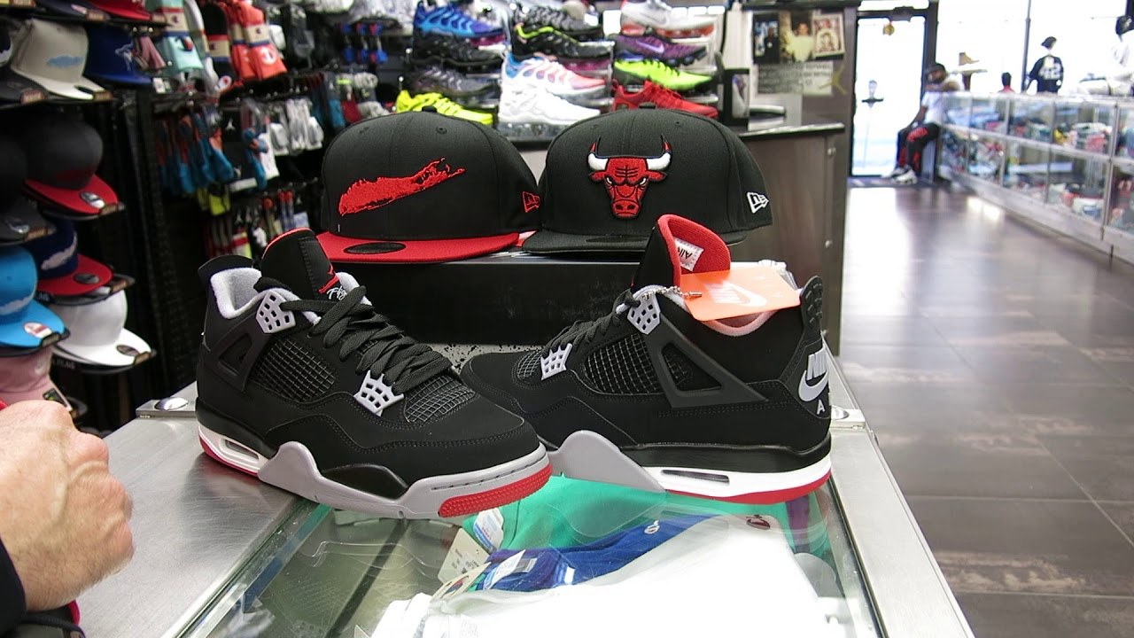 9742d88122f3d8 Air Jordan 4 Black  Red Cement Grey (Bred) - YouTube