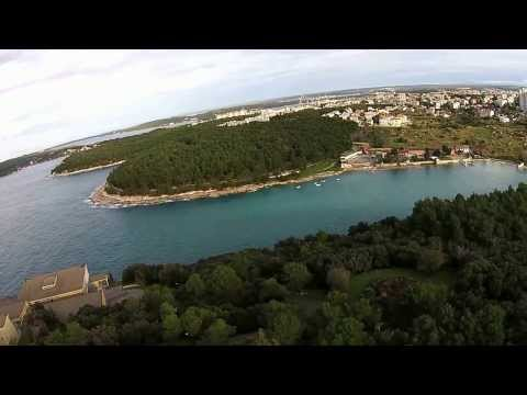 Pula city from air
