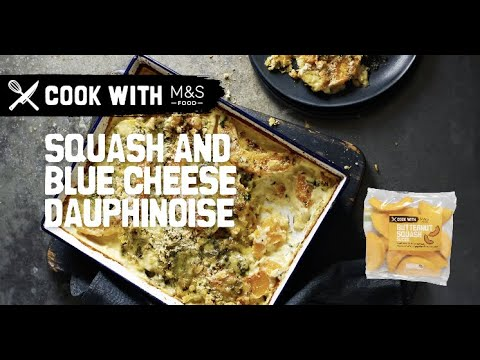 M&S   Cook with M&S... Squash and Blue Cheese Dauphinoise