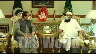 CM Punjab Sardar Usman Buzdar meets Maulana Tariq Jameel
