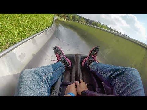 Alpine Slide POV! Summer Toboggan Run Bayern Park Germany Control Your Speed Roller Coaster