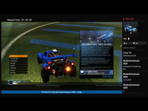 Ps4 ROCKET league LIVE TRADES AND PLAYING WITH SUBS