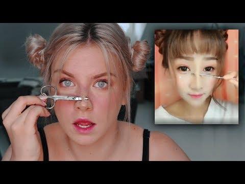 Ich Probiere ein KOREANISCHES Make Up Tutorial aus