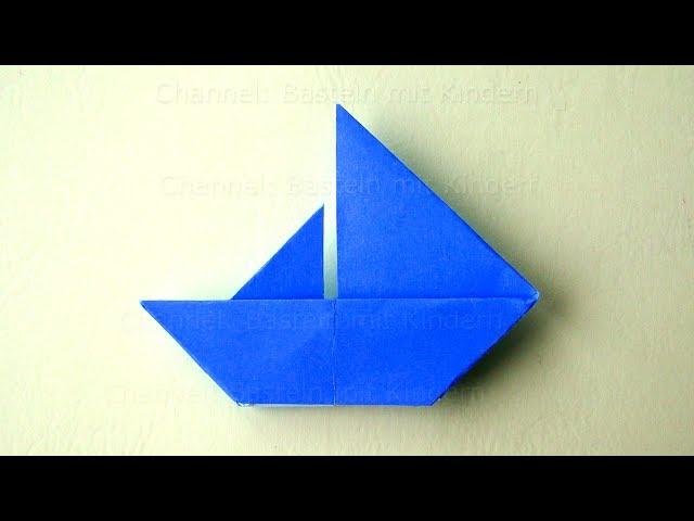 Origami Boot Basteln Mit Kindern Einfaches Origami