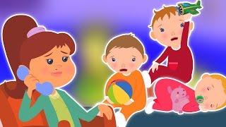 cinq petits bébés   bébé chanson   compilation   enfants rime   Five Little Babies   Baby Video