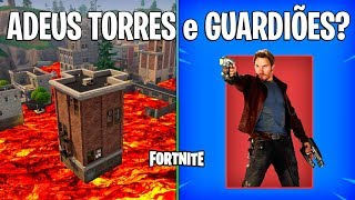 FORTNITE-DESTROYED CROOKED TOWERS and GUARDIANS SKINS of the GALAXY?